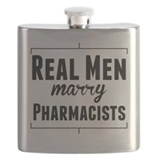 Real Men Marry Pharmacists Flask