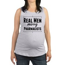 Real Men Marry Pharmacists Maternity Tank Top