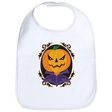 Sinister Halloween Pumpkin Bib