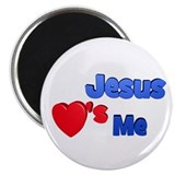 Jesus loves me Magnets