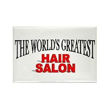 """The World's Greatest Hair Salon"" Rectangle Magnet"