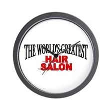 """The World's Greatest Hair Salon"" Wall Clock"