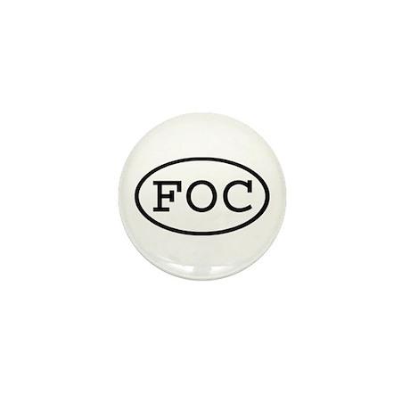 FOC Oval Mini Button (100 pack)