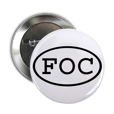 """FOC Oval 2.25"""" Button (100 pack)"""
