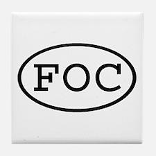 FOC Oval Tile Coaster