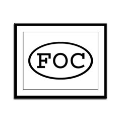 FOC Oval Framed Panel Print