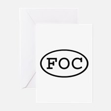 FOC Oval Greeting Cards (Pk of 10)
