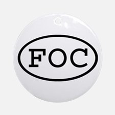 FOC Oval Ornament (Round)