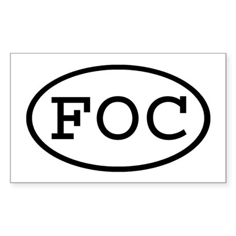 FOC Oval Rectangle Sticker