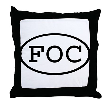 FOC Oval Throw Pillow