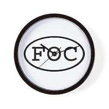 FOC Oval Wall Clock