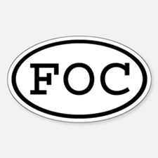FOC Oval Oval Decal
