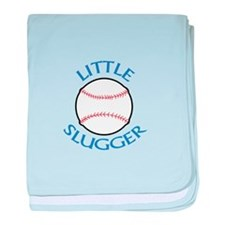 LITTLE SLUGGER baby blanket
