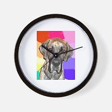 Great Dane Jamie rainbow Wall Clock