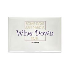 Wine Down Rectangle Magnet