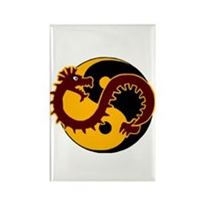 Yin Yang Protector 5 Rectangle Magnet