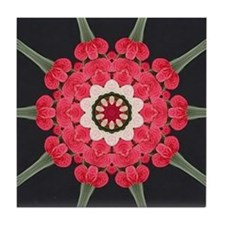 ANTHURIUM AND ORCHID Tile Coaster