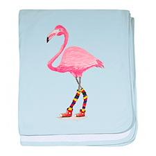 Styling Flamingo baby blanket