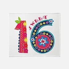 Blooming Sweet 16 Throw Blanket