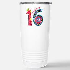 Blooming Sweet 16 Travel Mug