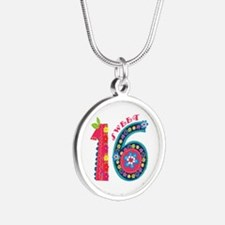 Blooming Sweet 16 Silver Round Necklace