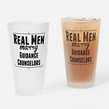 Real Men Marry Guidance Counselors Drinking Glass