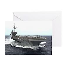 USS Kitty Hawk Greeting Cards (Pkg 6) Navy Gift