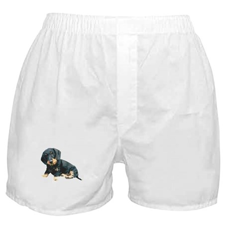 Black and Tan Wire Hair Boxer Shorts