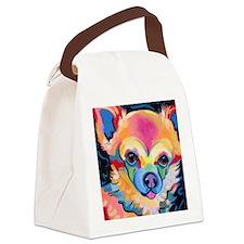 Unique Pom Canvas Lunch Bag