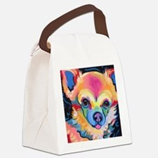 Cute Long haired chihuahua Canvas Lunch Bag