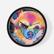 Cute Chihuahua art Wall Clock