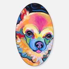 Cute Pom Sticker (Oval)