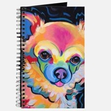 Unique Long haired chihuahua Journal