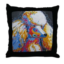 Cute Standard poodle Throw Pillow