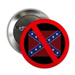 Slash Through Confederate Flag (Button)
