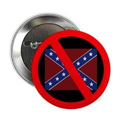 Slash Through Confederate Flag (Button)