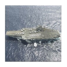 USS Kitty Hawk CV63 Tile Coaster US Navy Gift