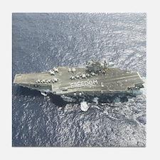 USS Kitty Hawk CV63 Tile Coaster US Navy Gift