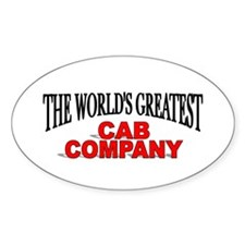 """""""The World's Greatest Cab Company"""" Oval Decal"""