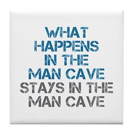 Man Cave Tile Coaster