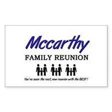 Mccarthy Family Reunion Rectangle Decal