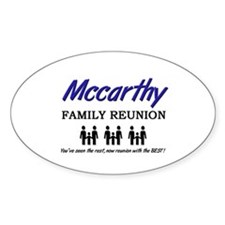 Mccarthy Family Reunion Oval Decal
