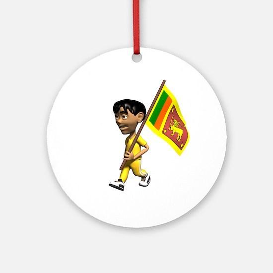 Sri Lanka Boy Ornament (Round)