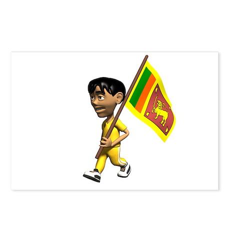 Sri Lanka Boy Postcards (Package of 8)