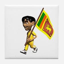 Sri Lanka Boy Tile Coaster