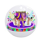 SOFT COATED WHEATEN TERRIER CIRCUS Ornament (Round