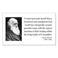 Charles Darwin 3 Rectangle Decal