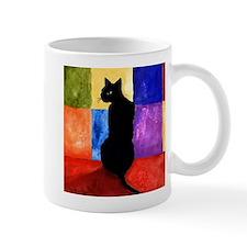 Black cat 3 Mug
