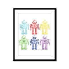 Robots Framed Panel Print