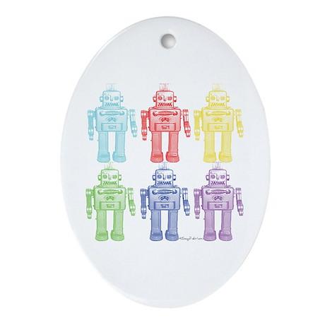 Robots Oval Ornament